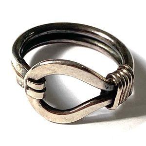 MODERNIST Sterling Silver Ring Vintage